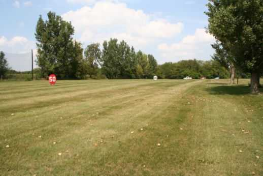 A view of the driving range at Golfmohr Golf Course