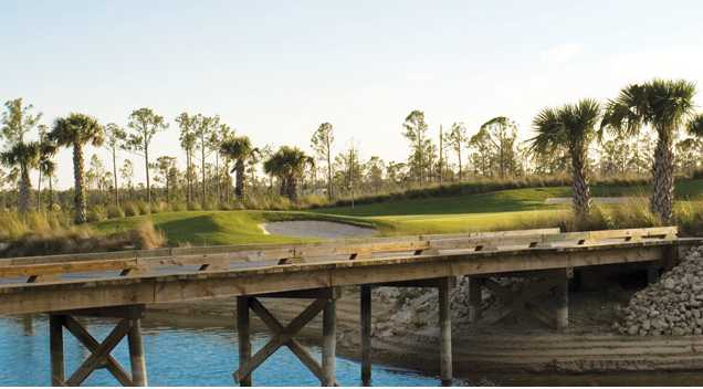 A view over the water from the Magnolia Landing Golf & Country Club