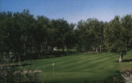 A view of a green at Iron Eagle Golf Course