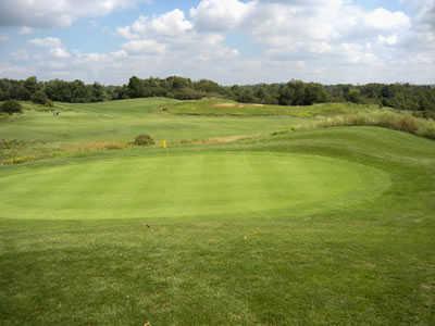 View of a green at Oak Gables Golf Club
