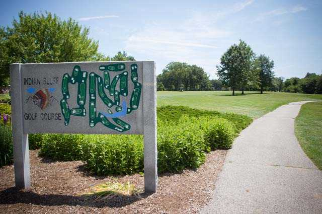 A view from the entrance at Indian Bluff Golf Course