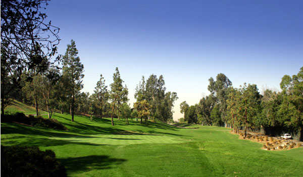 A view of the 5th green at Eisenhower Course from Industry Hills Golf Club at Pacific Palms Resort