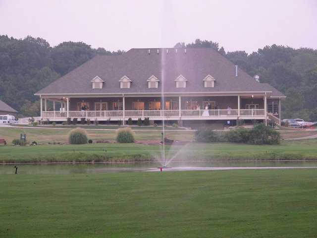A view of the clubhouse at Quail Crossing Golf Club