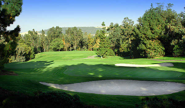 A view of fairway #9 at Eisenhower Course from Industry Hills Golf Club at Pacific Palms Resort