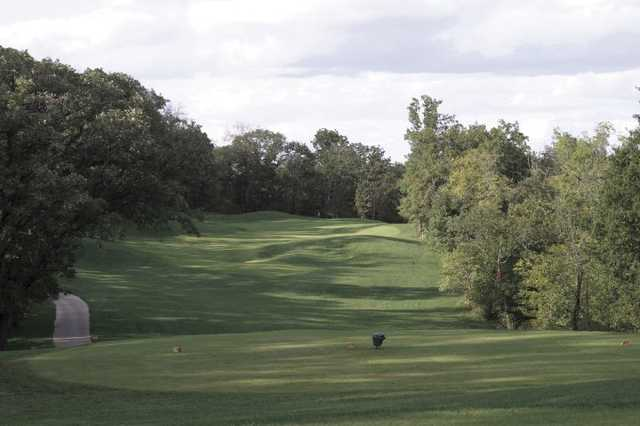 A view from the 2nd tee at Falcon Valley Golf Course