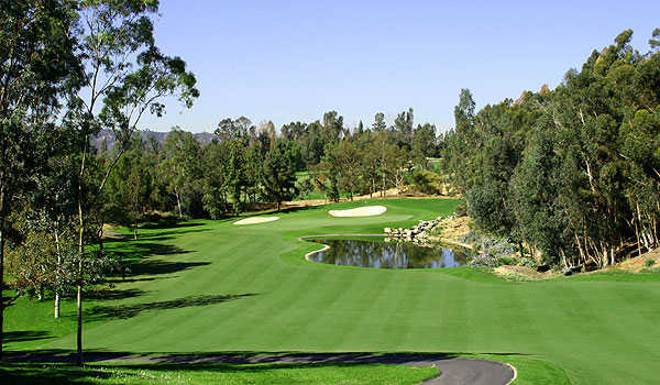 A view of fairway #10 at Eisenhower Course from  Industry Hills Golf Club at Pacific Palms Resort