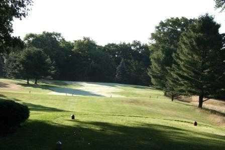 A view from a tee at Marquette Trails Country Club