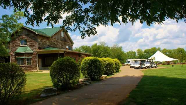 A view of the clubhouse at Cedar Crest Golf Club