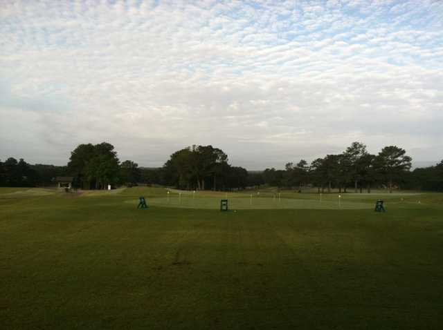 A view of the practice area at Dothan National Golf Club