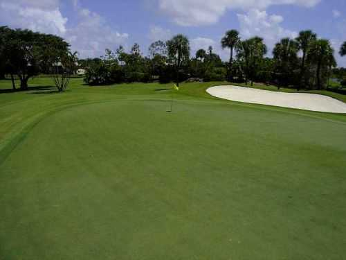 A view of the 4th hole at Lakes from Delaire Country Club.