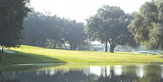 A view over the water from Orange Blossom Hills Golf & Country Club