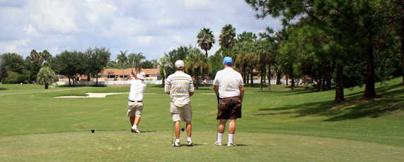 A view from a tee at De La Vista from The Villages Executive Golf Trail.