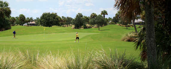 A view of a hole at El Santiago from The Villages Executive Golf Trail.