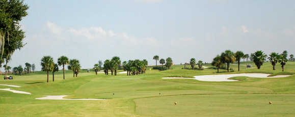 A view from a tee at Sandhill from The Villages Executive Golf Trail.