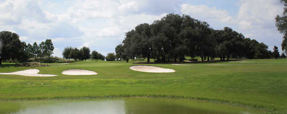 A view over the water from Walnut Grove at The Villages Executive Golf Trail.