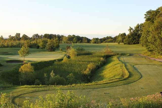 A view of a tee at Hy Hope Golf Course