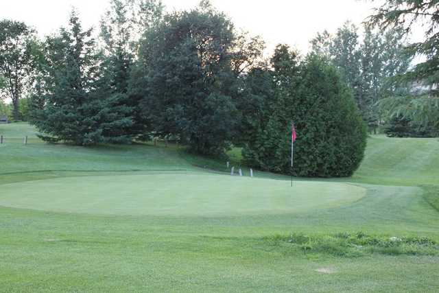 A view of a green at Hy Hope Golf Course