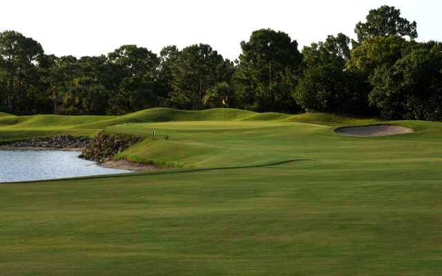 A view of hole #14 at Hills Course at Old Trail from Jonathan's Landing
