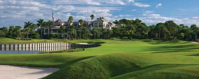 A view of the clubhouse at Loxahatchee Club.