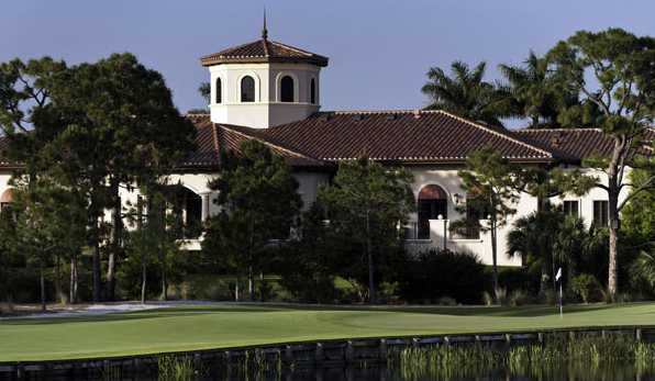A view of the clubhouse at Trump National Golf Club