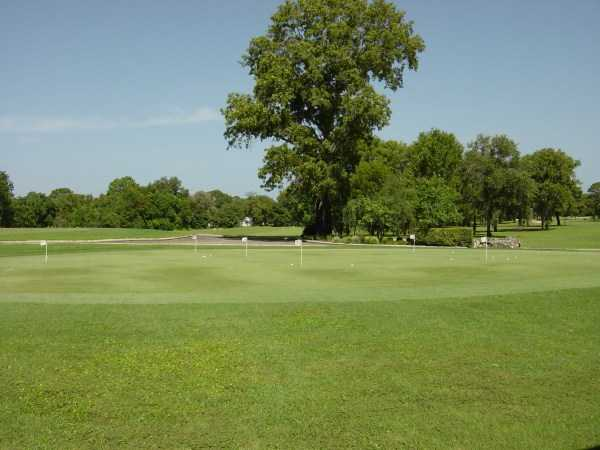 A view of the practice area at Sugarmill Woods Country Club