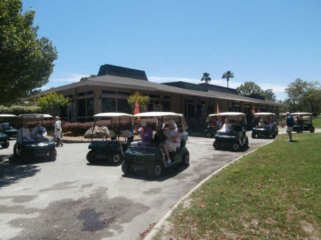 A view of the clubhouse at Sugarmill Woods Country Club