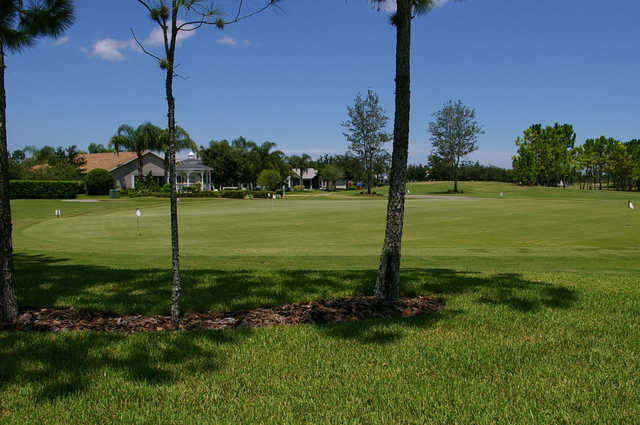 A view of the practice area at Heritage Springs Country Club