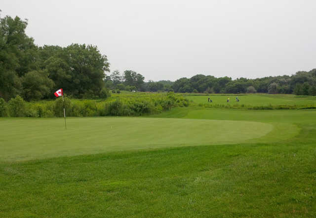 View of a green at Grey Silo Golf Course.