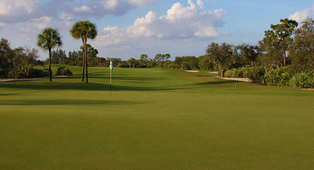 A view of the 3rd hole at Hawk's Course.
