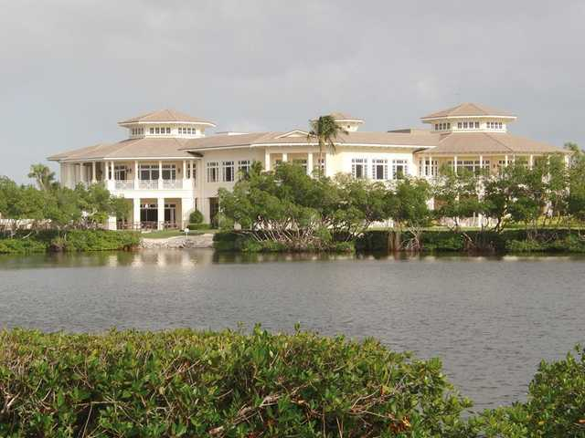 A view of the clubhouse at Moorings Course