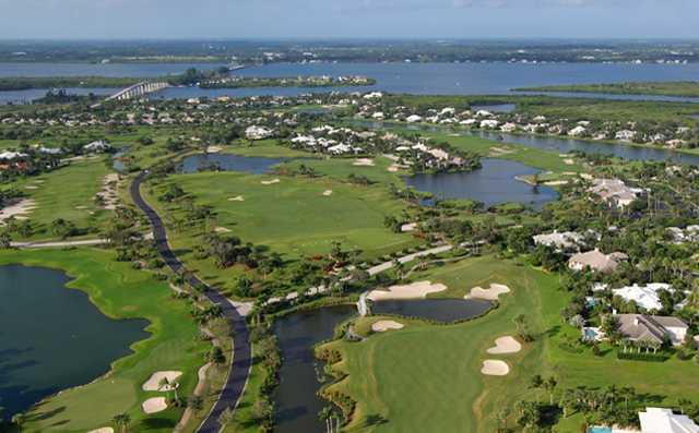 Aerial view of Orchid Island Golf & Beach Club
