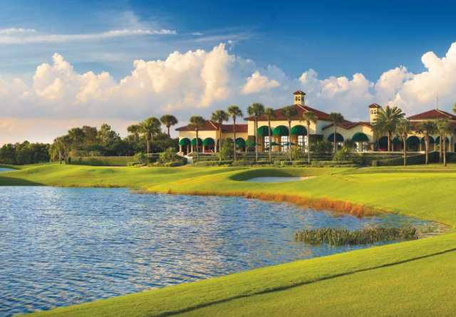 A view of the clubhouse at RedStick Golf Club
