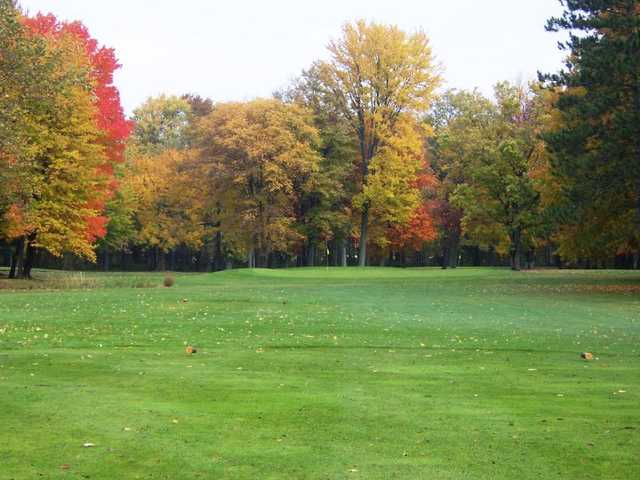 View of the 8th green from the Blue Course at Winding Creek Golf Course