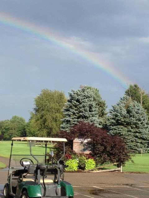 Rainbow over Winding Creek Golf Course