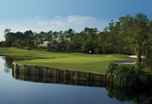 A view of green #5 at Palmer from Saddlebrook Golf & Tennis Resort.