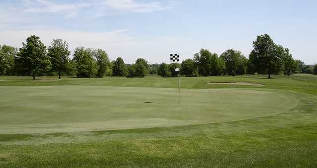 View of the 9th green at Twin Pines Golf Club