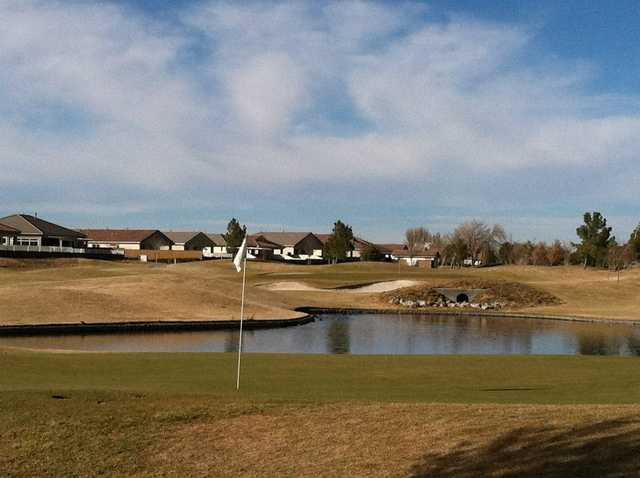 A view of a hole with water coming into play at Ashwood Golf Club