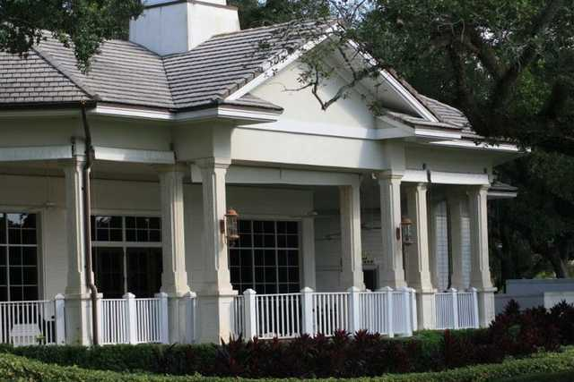 A view of the clubhouse at Grande Oaks Golf Club