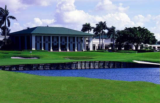 A view of the clubhouse at Weston Hills Country Club