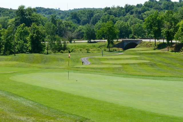 View of a green at Lucas Oil Golf Course