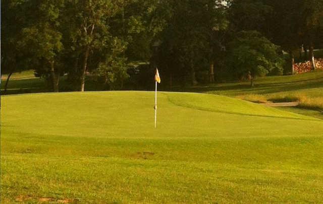View of a green at Dogwood Hills Municipal Golf Course.