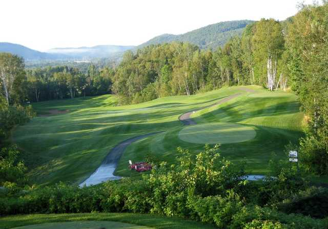 A view of tee #2 at La Bete from Gray Rocks Golf.