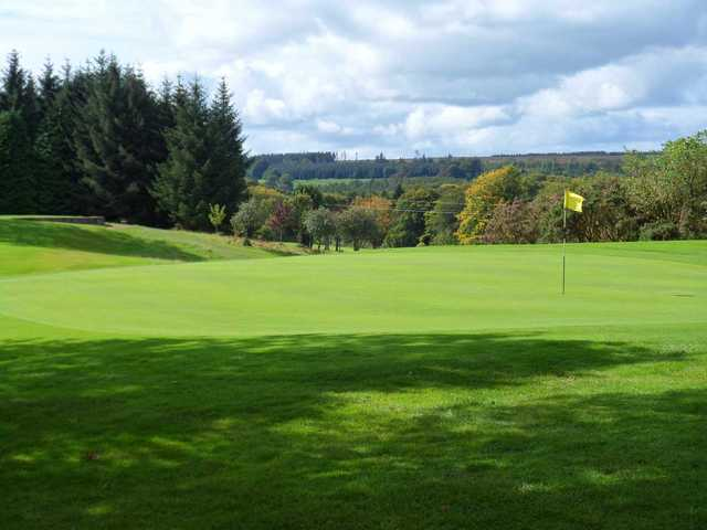 A view of the 10th green at Newtownstewart Golf Club