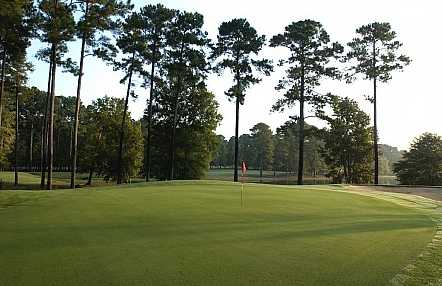 A view of a green at Hickory Knob Golf Course
