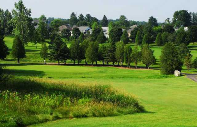 A view of a fairway and green at White Course from Foxwood Golf Club