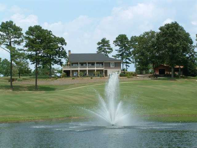A view of the clubhouse at Woodland Hills Golf Club