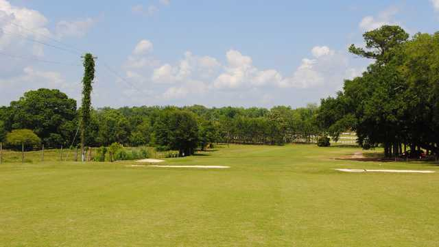 A view of the 18th hole at Quitman Country Club
