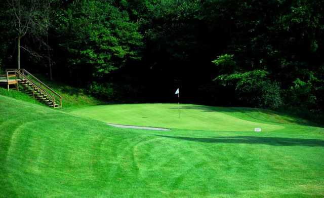 A view of a green at Brant Valley Golf Course