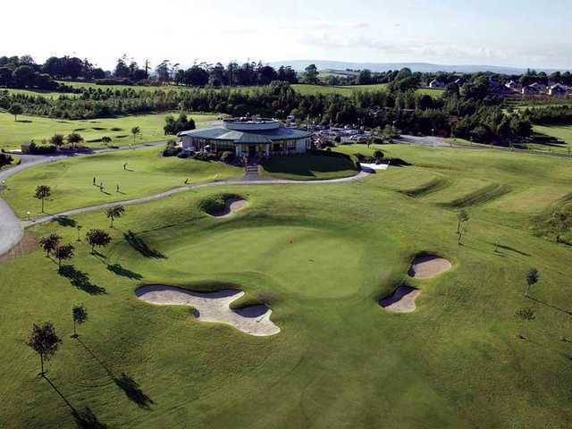 View of the clubhouse and green at Ballyneety Golf Club