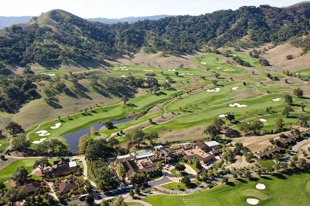 Aerial view from CordeValle Golf Club